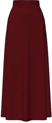 Bella Flore Women's Career Skirts BURGUNDY - Burgundy Tummy Control A-Line Maxi Skirt - Women & Plus