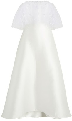 Alexis Mabille Voile Overlay Strapless Dress