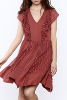 Adelyn Rae Ruffle Front Dress