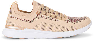 APL Athletic Propulsion Labs Techloom Breeze Sneaker in Champagne, Burgundy, & White | FWRD