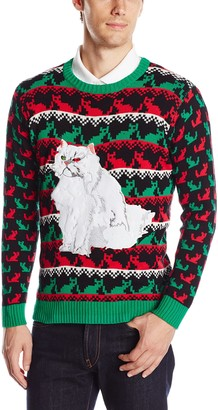 Blizzard Bay Men's Krazy Kitty Ugly Christmas Sweater