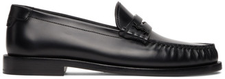 Saint Laurent Black Monogramme Moccassin Loafers