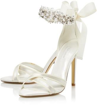 Dune London Bridal Wide Fit Martine Heeled Sandal - Ivory