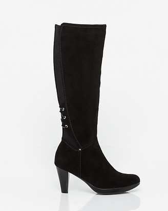 Le Château Suede Almond Toe Knee-High Boot