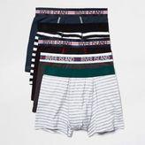 River Island MensBlack stripe hipster multipack