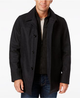 Nautica Wool-Blend Layered Car Coat