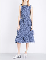 Erdem Floral-embossed organza dress