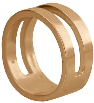 Edge Only Parallel Ring in 14ct Gold