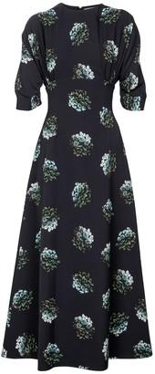 Emilia Wickstead Olga floral crepe maxi dress