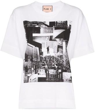 Plan C Placement photo print T-shirt