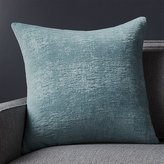 "Crate & Barrel Roussel Blue Velvet 20"" Pillow"