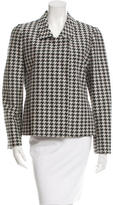 Stella McCartney Double-Breasted Houndstooth Blazer
