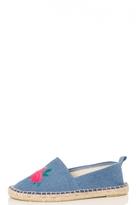 Quiz Light Blue Hessian Pumps