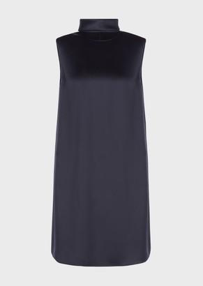 Emporio Armani Tunic Dress In Viscose Satin