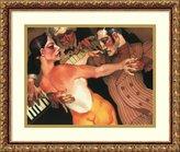 Amanti Art Framed Art Print 'Femme Au Robe Orange' by Juarez Machado
