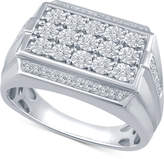 Macy's Men's Diamond Cluster Ring (1/3 ct. t.w.) in Sterling Silver