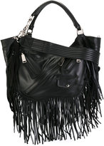 DSQUARED2 Babe Wire fringed hobo bag - women - Cotton - One Size
