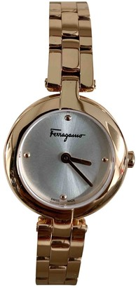 Salvatore Ferragamo Gold Steel Watches
