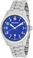 Wenger Terragraph 01.0541.118 Men's Silver Tone Stainless Steel Watch