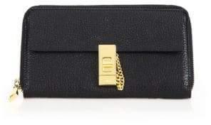 Chloé Drew Long Leather Zip Wallet