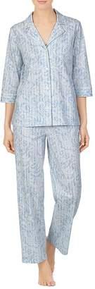 Ralph Lauren Paisley and Stripe Cotton Pajama Set