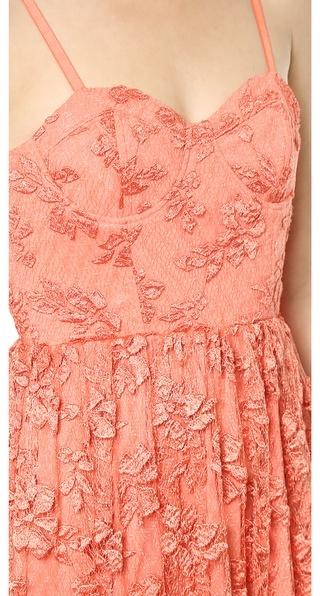 Alice + Olivia Tyler Bustier Flowy Maxi Dress