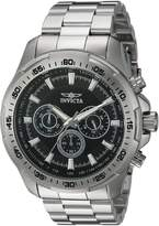 Invicta Men's 'Speedway' Quartz Stainless Steel Casual Watch, Color:Silver-Toned (Model: 22780)