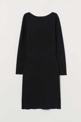 H&M Boat-neck Dress - Black