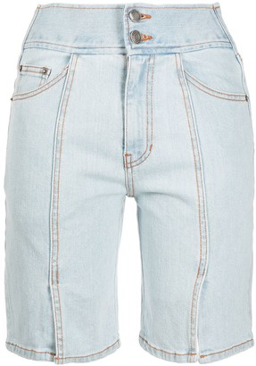 Sjyp Front Slit Denim Shorts