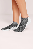 Missguided Bandana Print Socks Black