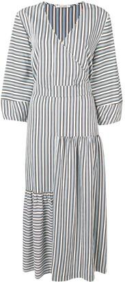 Parker Chinti & belted striped dress