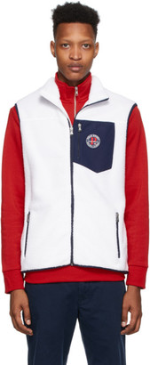 Polo Ralph Lauren White Fleece Sport Vest