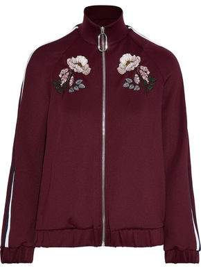 Markus Lupfer Maddy Embroidered Stretch-jersey Track Jacket