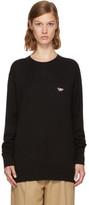 MAISON KITSUNÉ Black Tricolor Fox Patch Sweater