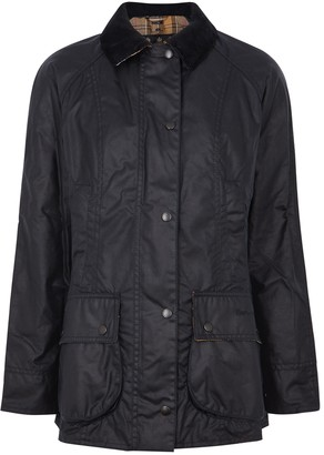 Barbour Beadnell Navy Waxed Cotton Jacket