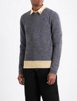 Comme des Garcons Contrast-hem wool-blend jumper