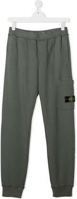 Stone Island Junior TEEN logo patch track trousers