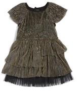 Little Marc Jacobs Toddler Girl's Ruffle Metallic Dress
