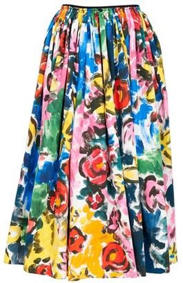 Marni Floral print midi skirt