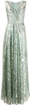 Talbot Runhof metallic-thread maxi dress