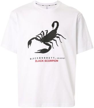 Blackbarrett scorpio-print logo T-shirt