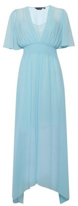 Dorothy Perkins Womens Blue Kimono Maxi Dress