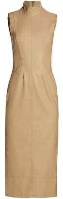 Alexis Farrah Leatherette Pencil Dress