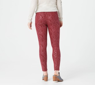 Women With Control Women with Control Petite Embossed Ponte Royale Leggings