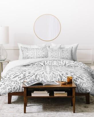 Express Deny Designs Gray Maze Duvet Cover Set