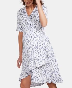 Isabella Oliver Maternity Printed Wrap Dress