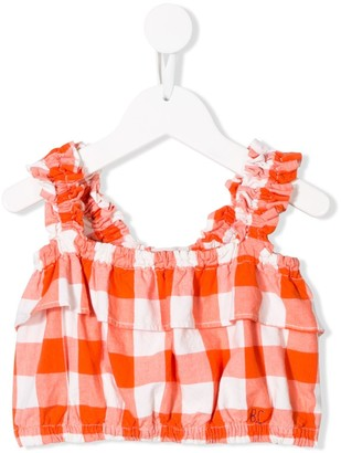 Bobo Choses Plaid Cropped Top