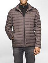 Calvin Klein Mens Packable Down Hooded Puffer Jacket
