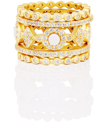 Freida Rothman Signature Mother-of-Pearl Stackable Rings