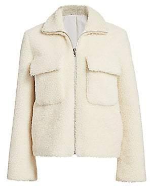 Helmut Lang Women's Teddy Faux Shearling Bomber Jacket
